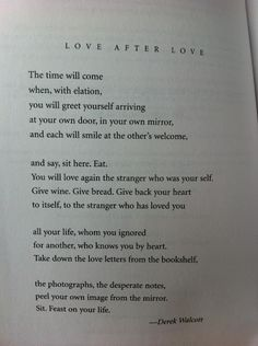 Love after Love by Derek Walcott