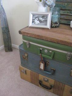 Vintage suitcases ideas.
