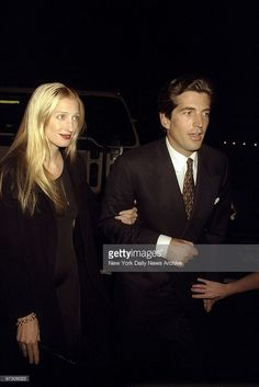 John F Kennedy Jr and his wife Carolyn Bessette arrive at Asia de... News Photo | Getty Images
