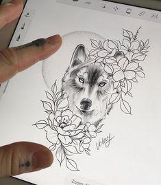 wolf tattoo ideas for women & wolf tattoo _ wolf tattoo design _ wolf tattoo for women _ wolf tattoo sleeve _ wolf tattoo men _ wolf tattoo small _ wolf tattoo ideas for women _ wolf tattoo design for women Wolf Tattoo Forearm, Small Wolf Tattoo, Wolf Tattoo Sleeve, Sleeve Tattoos, Tattoo Wolf, Husky Tattoo, Pretty Tattoos, Cute Tattoos, Leg Tattoos