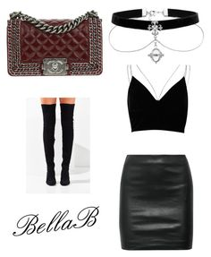 """""""Club vibe"""" by banbangotit on Polyvore featuring River Island, Jeffrey Campbell, The Row and Chanel"""