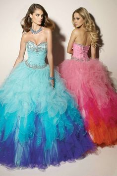 Lace Up Sweetheart Ruffles Strapless Beaded Long Blue Quinceanera Dress