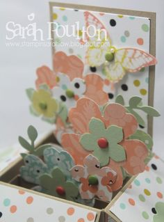 Stampin' Sarah!: Stampin' Up! UK Card in a Box Birthday Celebration. Using lovely Sale-A-Bration Sweet Sorbet Designer Series Papers with Pansy Punch and Petite Petals.
