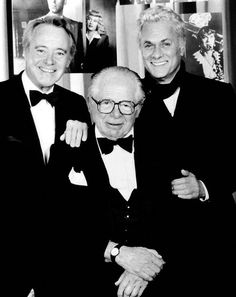 """Jack Lemmon, Billy Wilder, and Tony Curtis - joined in a tribute to """"Some Like It Hot"""" director Billy Wilder"""