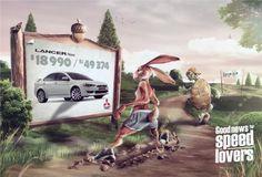 Реклама Mitsubishi Lancer: Хорошие новости для любителей скорости.  Рекламное агентство: Volver d6, Лима, Перу