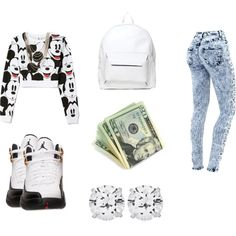 mickey all day, created by jkh503 on Polyvore