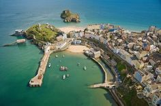 Aerial picture of Tenby