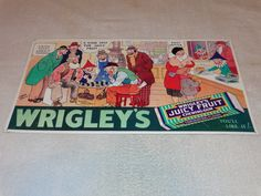 """VINTAGE RARE WRIGLEY'S JUICY FRUIT CHEWING GUM CANDY 21"""" EMBOSSED METAL SIGN NR! in Collectibles, Advertising, Food & Beverage, Candy & Nuts, Chewing Gum   eBay"""