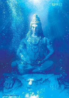 Hindu god Shiva submerged illustration