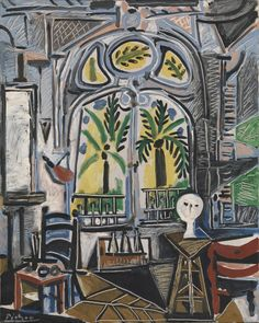 'The Studio', 1955, Pablo Picasso this is different from what we see of his work ... am in love with this ...