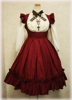 gothic lolita red dress