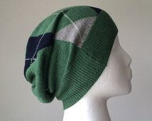 Slouchy Hat - Upcycled Sweater - Cotton and Cashmere Slouch Hat - Upcycled…