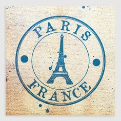One of my favorite discoveries at WorldMarket.com: Passport to France Canvas Print