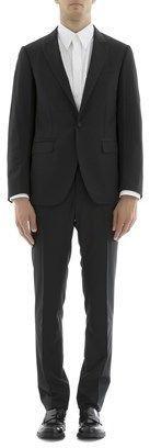 Lanvin Men's Black Wool Suit.