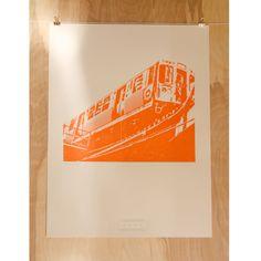 Ah, so many days spent on this train... Chicago Orange Line PRINT. $20.00, via ZeroBirdStudio on Etsy.