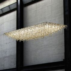 Original design chandelier / crystal / halogen / handmade UGOLINO RECTANGULAR Lolli e Memmoli