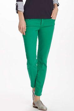 AG Stevie Ankle Jeans - Green