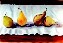 fruit. pastels.
