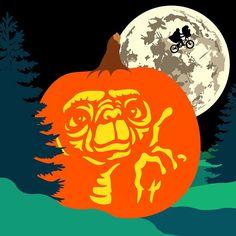 'E.T. Phone Home.' Happy Halloween! #ET #jackolantern #illustration #happyhalloween #etphonehome #pumpkin (averynejam's photo on Instagram)