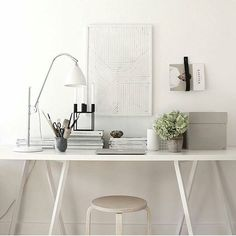 Happy Sunday.  The weather is utterly stunning. Too good to stay indoors at a desk. Enjoy it and let work go (I should take my own advice). Having said that this is quite the serene little work space by @mikkeldahlstroem featuring the stunning @silkebonde water art. by simple.form