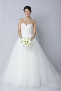 2013 wedding dress by Theia bridal gowns lace tulle ballgown LOVE