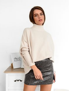 Μπλούζα Πλεκτή Ζιβάγκο Μπεζ - Flexibility Turtle Neck, Sweaters, Shirts, Tops, Fashion, Moda, Fashion Styles, Pullover, Sweater