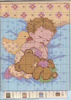 magliamagia: Schemi punto croce - nascita