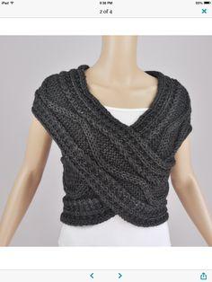 Sweater vest? Infinity scarf?