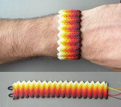 como hacer una pulsera macrame punta arroz o nudo del inca en zig zag (video) ~ artemanual