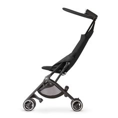 We're big fans of the new gb Pockit stroller, which is sleek, lightweight, and folds down small enough to fit in your carry on.