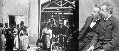 """19 mars 1895 ♦ Tournage de la première des trois versions de """"La sortie des usines Lumière""""."""