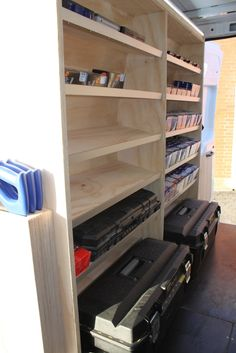 Like these shallow sloping shelves. (5) Interior of my new van - Ford Transit