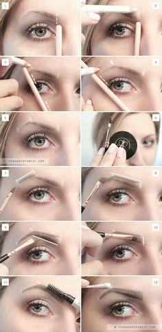 My New Perfect Brow Routine: Eyebrow Tutorial – Wonder Forest – Best Eyebrows Eyeliner, Eyebrow Makeup, Hair Makeup, Makeup Eyebrows, Eye Brows, Eyebrow Grooming, Eyebrow Brush, Eyebrow Sculpting, Henna Eyebrows