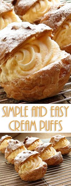 These cream puffs are the dessert people BEG me to bring to parties. What they don't know is how truly easy they are to make! #dessertrecipe #easydessert #easyrecipe via @Flavoritenet