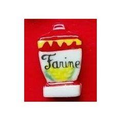 Pot de farine - Feve brillante appartenant à la série 'Délices de Grand-Mama,'