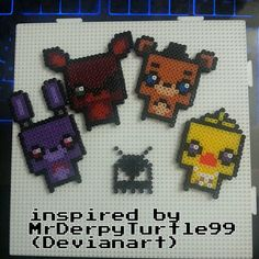 Whole set of Five Nights at Freddys can be ordered as either Keychain Clip, Magnet, Necklace or Earrings!.  As small as an American Quarter!  Just message me with your pick.  If your buying multiple products message me for combined shipping!   Magnets have a magnet on the back.  Key cha...