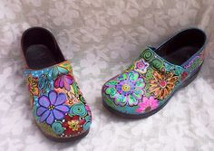Dansko Clog Shoe Womens 40 Hand Painted Upcycled 1OFAKIND Xlant | eBay