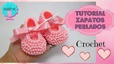 bailarinas para bebe a crochet paso a paso - YouTube