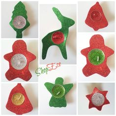 Christmas floating candles - christmas tree shape, gingerbread man, bell shape, reindeer, angel and star