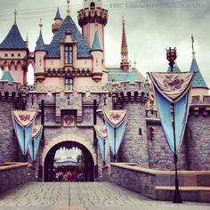 Sleeping Beauty's Castle at Disneyland, California. Photo by Eric Embacher