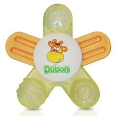 Dubon Water Filled Teether, Star by Dubon. $3.99. Dubon water filled teether is designed with little hands in mind. It is easy for baby to grasp and shake. Teether is made from durable material and is designed and tested for safe play. Water used for teether is purified through reverse osmosis, which is safe for babies. Teether may be refrigerated to provide cooling for babies gums.