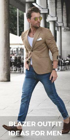 Blazer jacket outfit ideas for men #mensfashion #style #fashion - Learn how  I