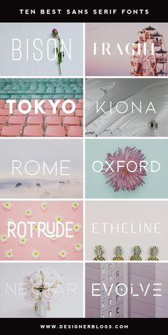 Ten Best Sans Serif Fonts Sans serif fonts are versatile and can work for any st. - Ten Best Sans Serif Fonts Sans serif fonts are versatile and can work for any style from casual to - Font Design, Graphic Design Fonts, Poster Design, Banner Design, Identity Design, Brand Identity, Web Design Trends, Police Avec Serif, Ideas Para Logos