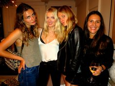 Andreea Diaconu, Lily Donaldson, Constance Joblonski, and Margherita Missoni at my house for a dinner after my <em>Harper