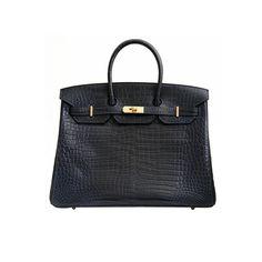 Hermes - Indigo Matte Porosus Crocodile Birkin Bag