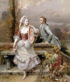 """♥ """"Amor no Jardim"""" → Cesare-Auguste Detti"""