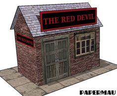 PAPERMAU: The Red Devil`s Pub Paper Model - Custom by Chris Longvallon