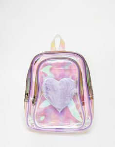 Image 1 ofUNIF Trixie Perspex Backpack with Faux Fur Heart