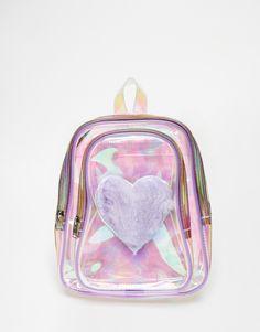 Image 1 - UNIF - Trixie - Sac à dos en Perspex® avec cœur en fausse fourrure