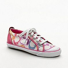 My mother just got these absolutely adorable Coach sneakers for her for when she starts middle school.  I love them so much now I want them!